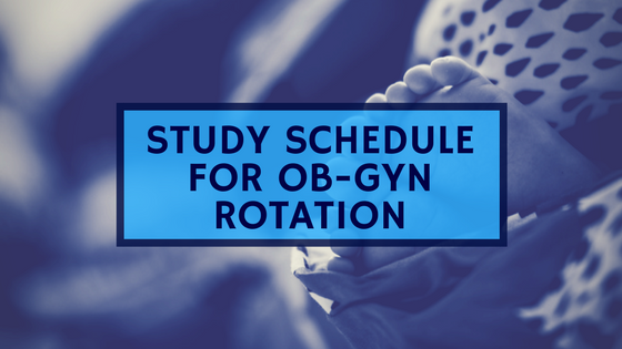 Study Schedule For Your Ob-Gyn Rotation