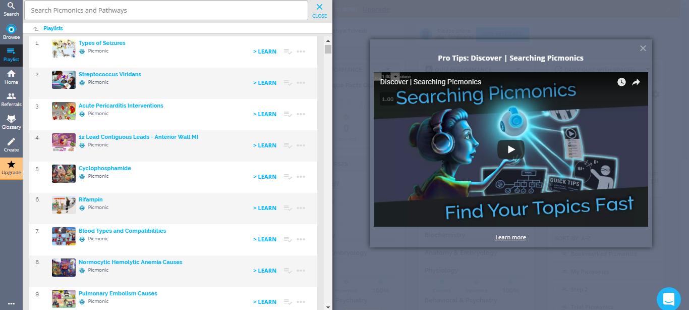 Picmonic Playlists