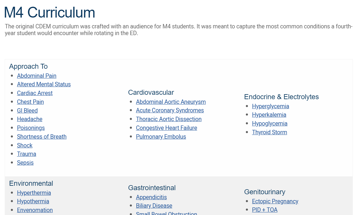 M4 Curriculum