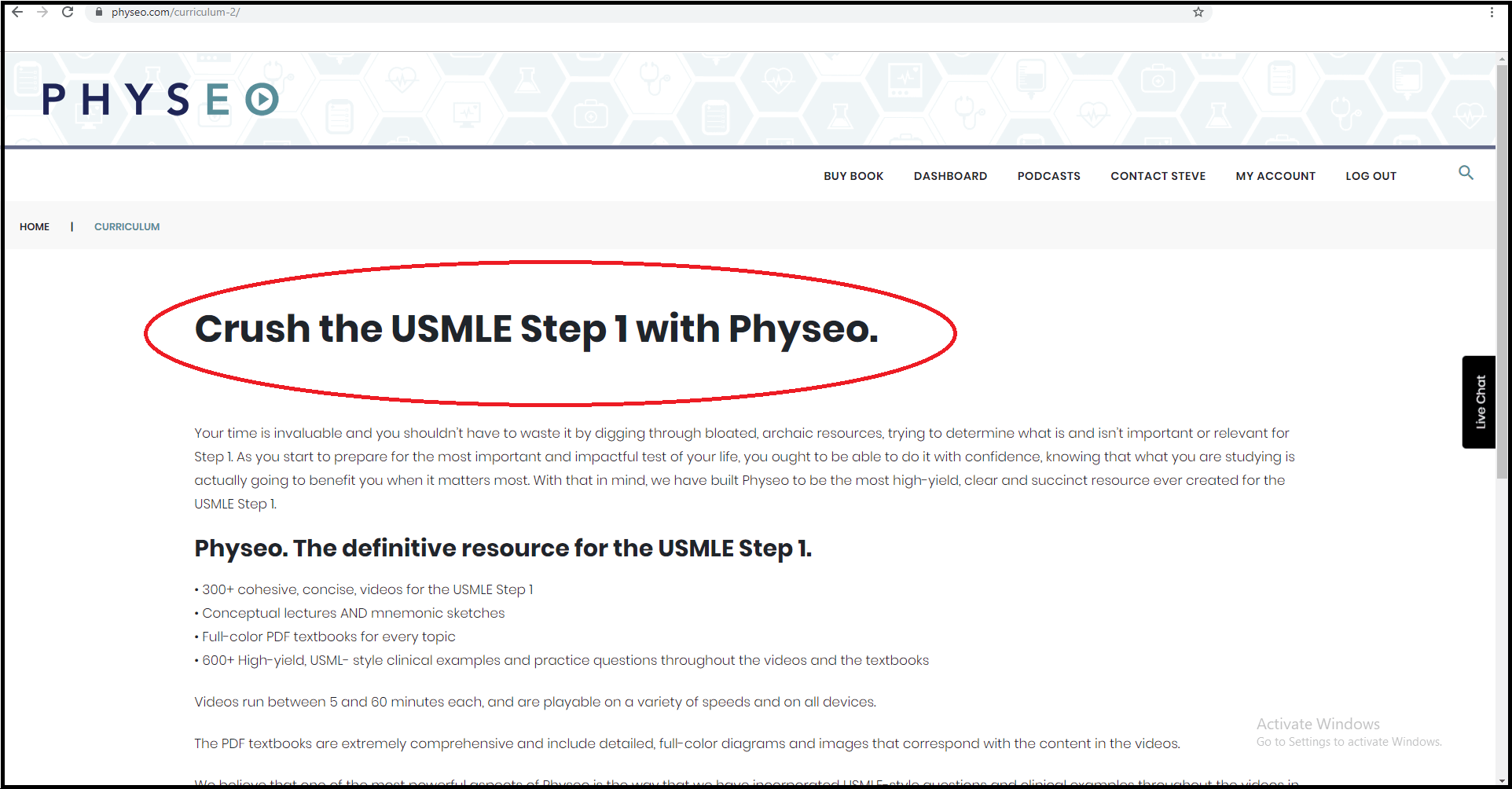 Step 1 Resources - Physeo curriculum