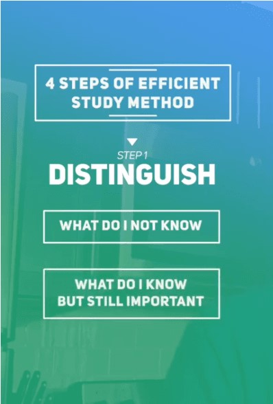 more efficient way to study - distinguish