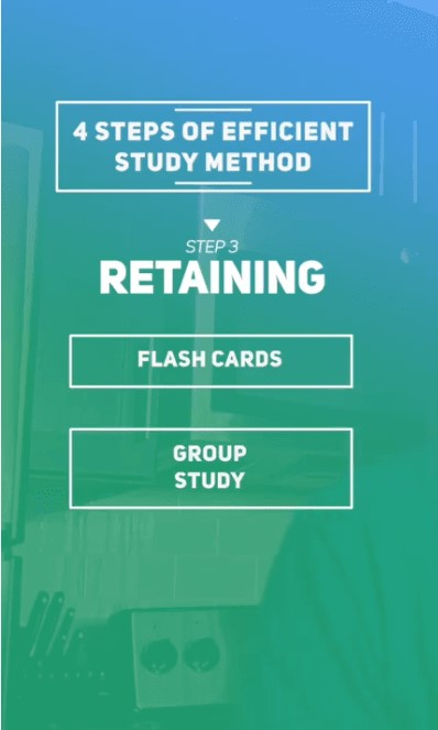 more efficient way to study - retain