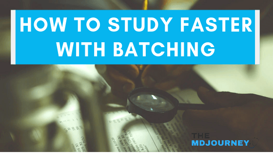 study faster with batching