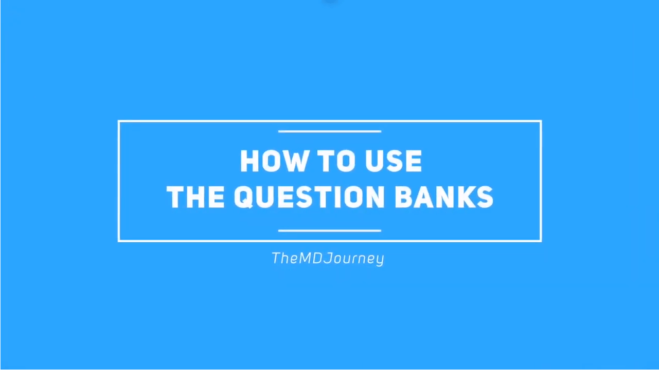 How to use the question banks for step 1